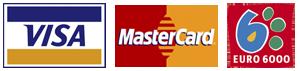 Pago con tarjeta VISA MasterCard Euro6000
